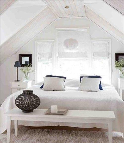 blanco dormitorio Decoración en Blanco para Toda la Casa