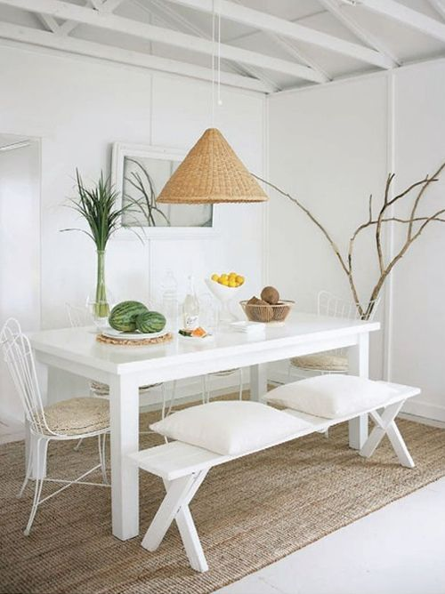 comedor-decoracion-blanco-moderno-sencillo
