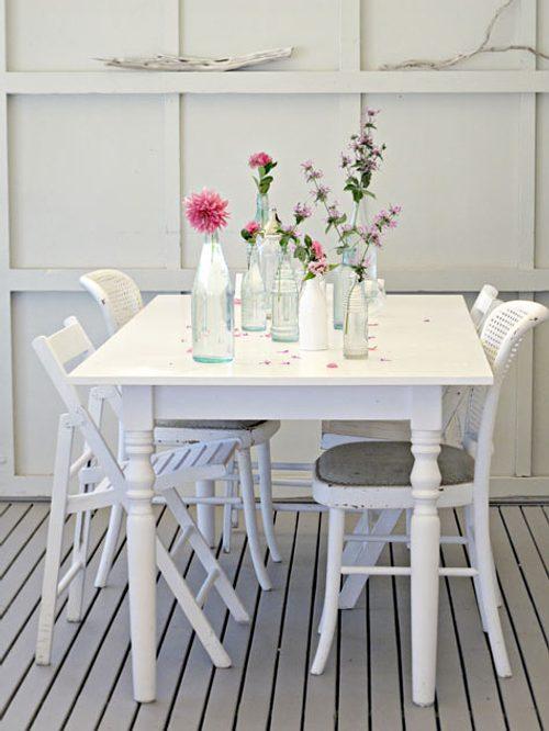 decorar comedores blanco Decoración en Blanco para Toda la Casa