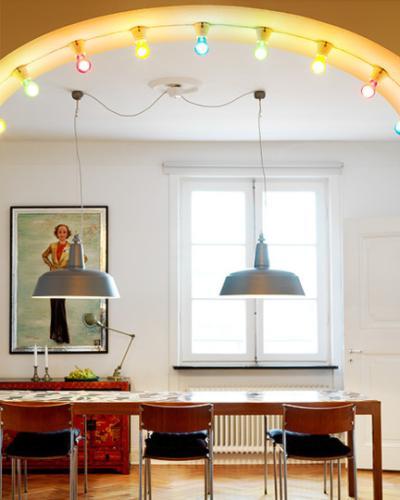iluminacion roiginal comedor vintage guirnalda de luces