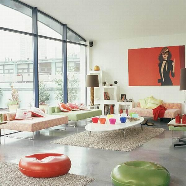 Dise os de interiores exteriores y espacios abiertos for Decoracion retro pop